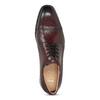 Vínové pánské kožené Derby polobotky bata, červená, 826-5903 - 17