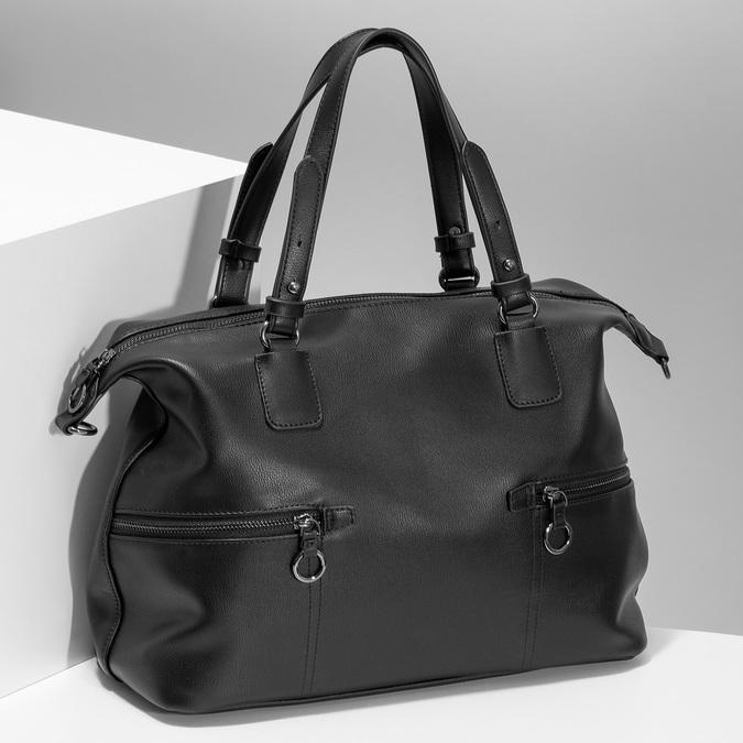 Černá dámská kabelka s popruhem bata, černá, 961-6993 - 17