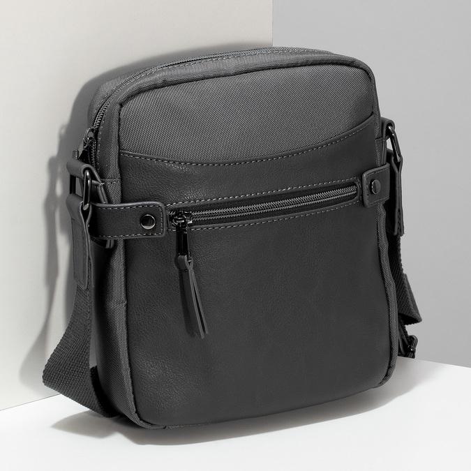 Pánská šedá Crossbody taška bata, šedá, 969-2793 - 17