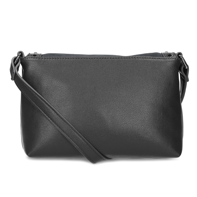 Černá Crossbody kabelka s kovovými cvoky bata, černá, 961-6711 - 16