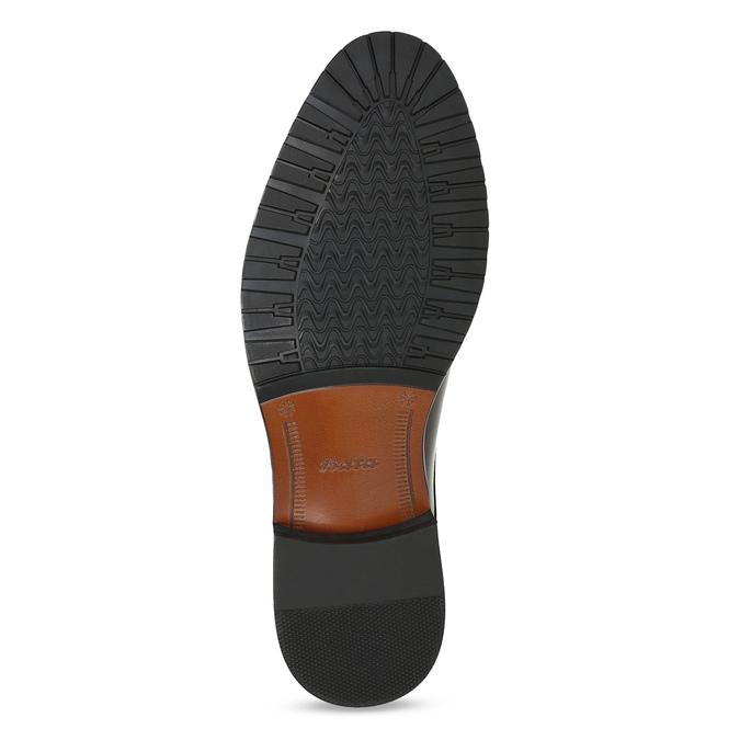 Pánské hnědé kožené Derby polobotky bata, hnědá, 826-4607 - 18
