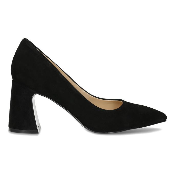 Černé dámské lodičky z broušené kůže bata, černá, 623-6605 - 19