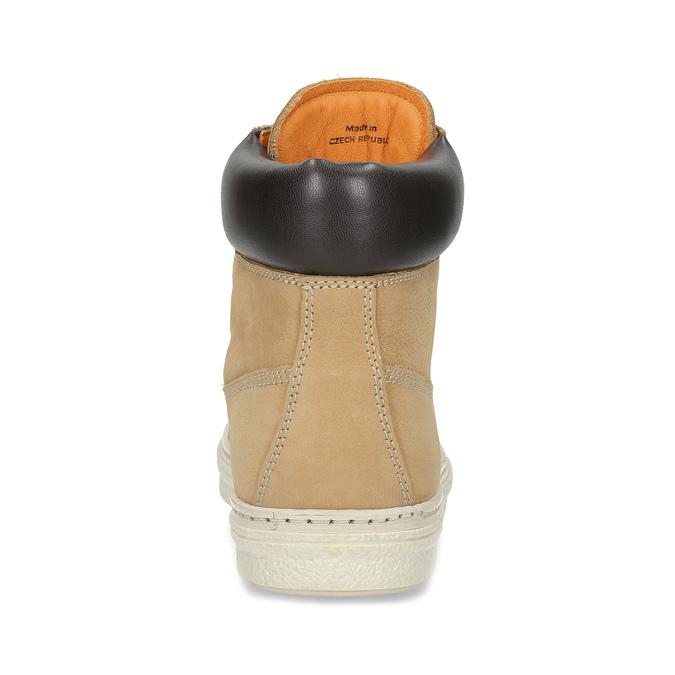 Kotníčková dámská obuv z broušené kůže weinbrenner, béžová, 696-8609 - 15