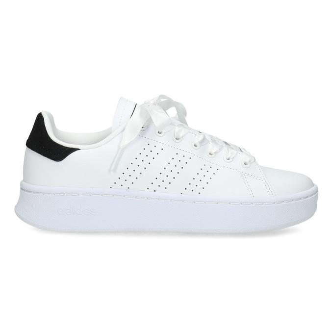 Dámské bílé ležérní tenisky s perforací adidas, bílá, 501-1231 - 19