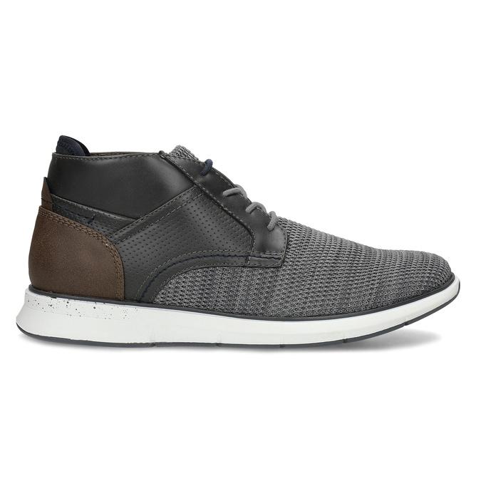 Šedá pánská kotníčková obuv s hnědým detailem bata-red-label, šedá, 821-2673 - 19