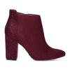 Dámská kotníková obuv na stabilním podpatku bata, červená, 699-5605 - 19