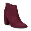 Dámská kotníková obuv na stabilním podpatku bata, červená, 699-5605 - 13