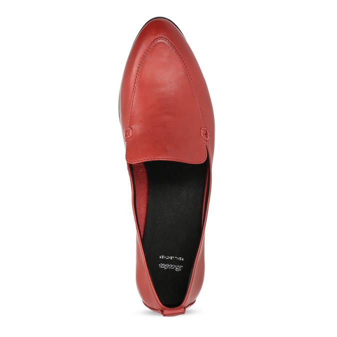 Kožené dámské mokasíny červené bata, červená, 534-5601 - 17