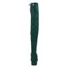 Dámské vysoké zelené kozačky se šňůrkami bata, zelená, 699-7609 - 15