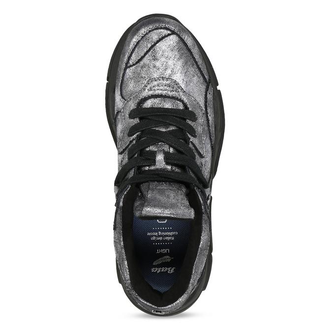 Stříbrné dámské tenisky v Chunky stylu bata-light, stříbrná, 641-4601 - 17