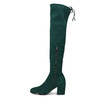 Dámské vysoké zelené kozačky se šňůrkami bata, zelená, 699-7609 - 17