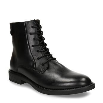 Dámská šněrovací kotníková obuv z kůže bata, černá, 594-6627 - 13