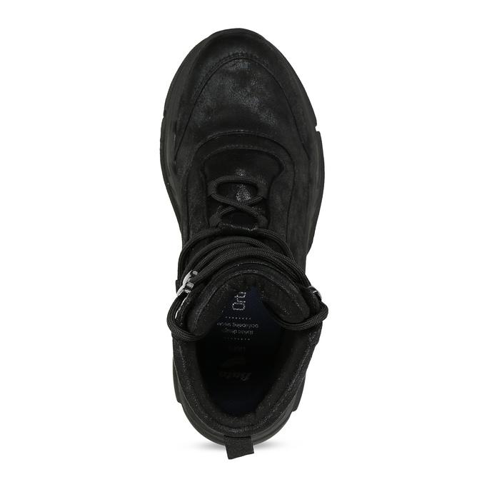 Kotníkové tenisky v městském stylu bata-light, černá, 691-6606 - 17