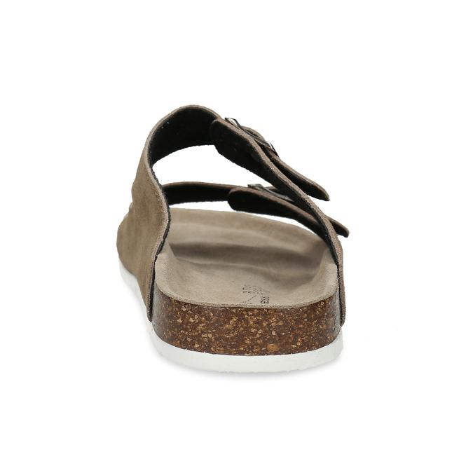Hnědé pánské nazouváky z broušené kůže de-fonseca, hnědá, 873-4610 - 15