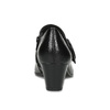 Kotníčková kožená obuv na stabilním podpatku bata, černá, 624-6609 - 15