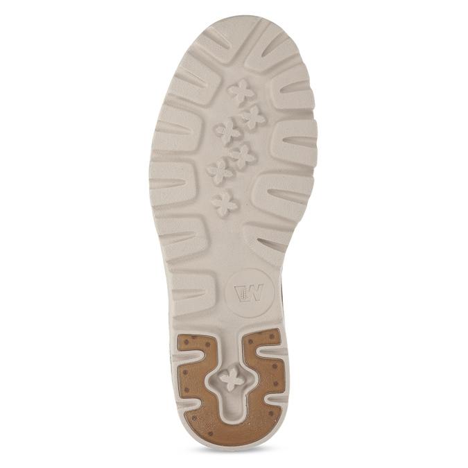 Dámská šněrovací obuv z bílé kůže weinbrenner, bílá, 596-1603 - 18