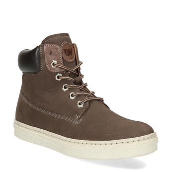 Dámská hnědá kotníčková kožená obuv weinbrenner, hnědá, 696-4609 - 13