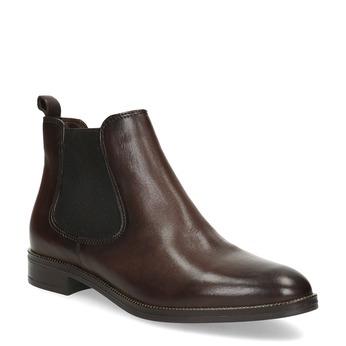 Dámská kožená hnědá Chelsea obuv bata, hnědá, 594-4645 - 13