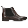Dámská kožená hnědá Chelsea obuv bata, hnědá, 594-4645 - 19