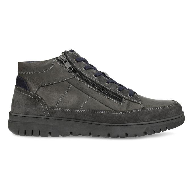 Kotníčková pánská obuv s prošitím bata, šedá, 846-2623 - 19