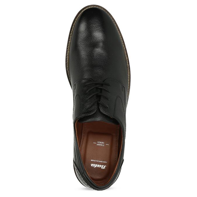 Pánské kožené polobotky v Derby stylu bata, černá, 824-6608 - 17