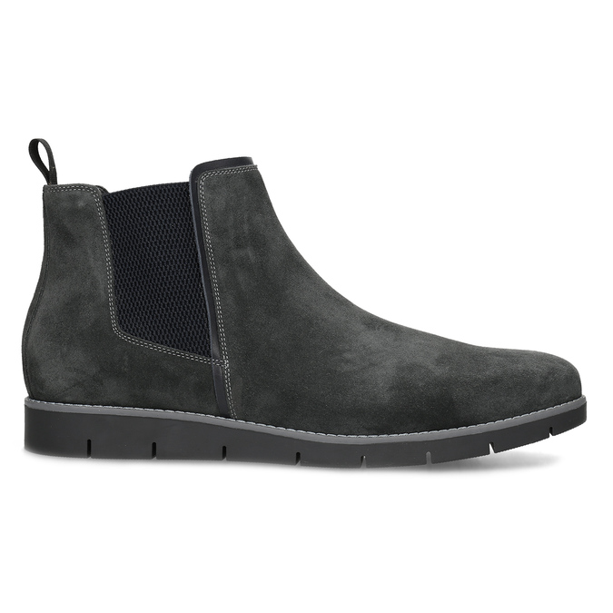 Šedá pánská kotníčková obuv z broušené kůže flexible, šedá, 823-2700 - 19