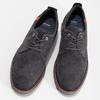 Šedé ležérní polobotky z broušené kůže bata, šedá, 826-2605 - 16