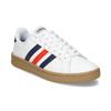 Bílé pánské ležérní tenisky s prošitím adidas, bílá, 801-1163 - 13