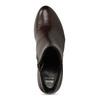 Dámské kožené kozačky na stabilním podpatku bata, červená, 694-5601 - 17