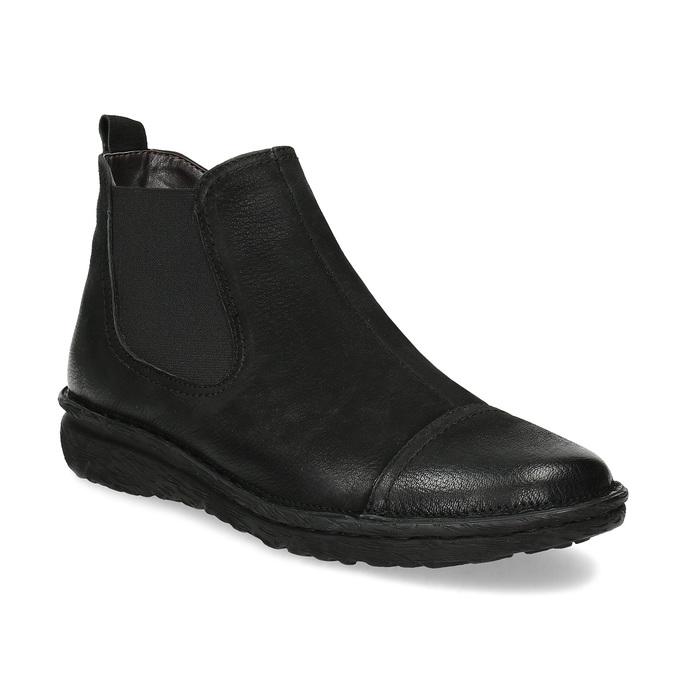 Kožená dámská kotníčková Chelsea obuv bata, černá, 594-6626 - 13