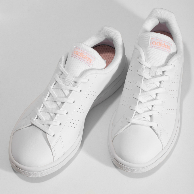 Bílé dámské tenisky s perforací adidas, bílá, 501-1240 - 16