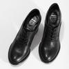 Kotníčkové kožené kozačky na stabilním podpatku bata, černá, 624-6611 - 16