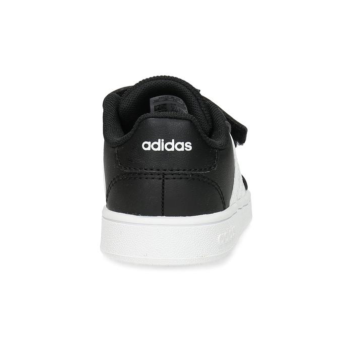 Černé dětské tenisky na suché zipy adidas, černá, 101-6281 - 15