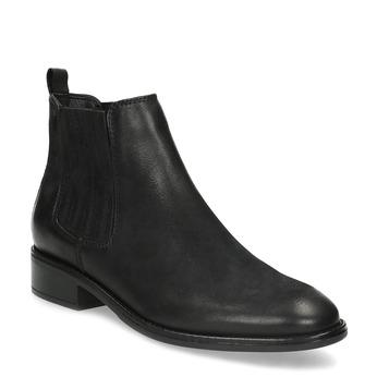 Černá kotníčková kožená obuv v Chelsea stylu bata, černá, 596-6609 - 13