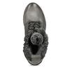 Šedé dámské kožené Ombré kozačky bata, šedá, 596-2615 - 17