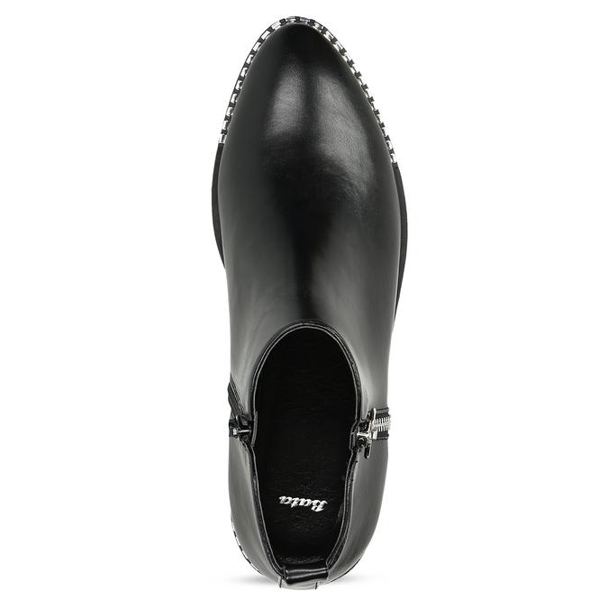 Dámská černá kotníčková obuv se zipem bata, černá, 591-6601 - 17