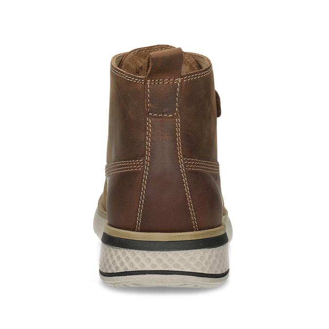 Pánská hnědá kožená kotníčková obuv weinbrenner, hnědá, 846-3638 - 15