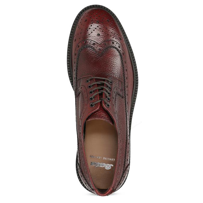 Červené pánské kožené Brogue polobotky bata, červená, 826-5629 - 17