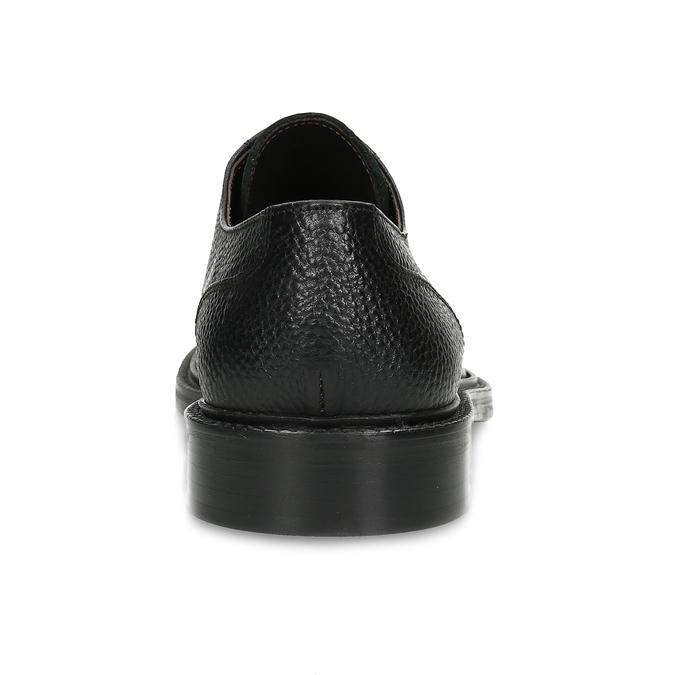 Pánské kožené polobotky se strukturou bata, černá, 824-6658 - 15