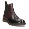 Vínová pánská kožená kotníčková Chelsea obuv bata, červená, 826-5630 - 13