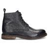 Modrá pánská kožená kotníčková obuv bata, modrá, 826-9631 - 19