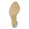 Stříbrné sandály na podpatku s kamínky bata, stříbrná, 729-1609 - 18