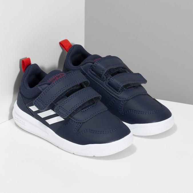 Modré dětské tenisky na suché zipy adidas, modrá, 101-9291 - 26