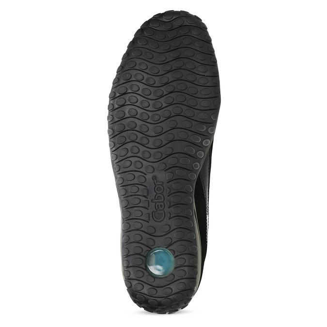 Kožené černé tenisky s lakovanými částmi gabor, černá, 526-6102 - 18