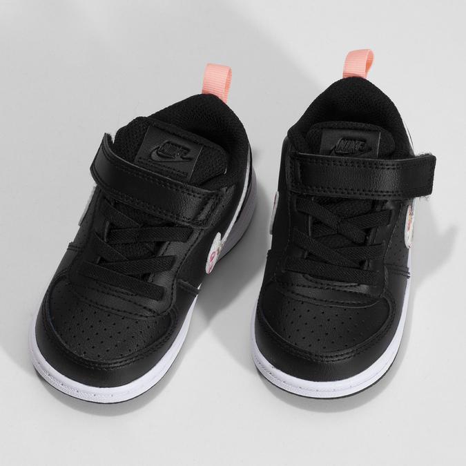 Dětské černé tenisky s barevným logem nike, černá, 101-6303 - 16