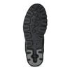 Kotníčkové kožená obuv s kontrastním prošitím weinbrenner, černá, 596-6602 - 18