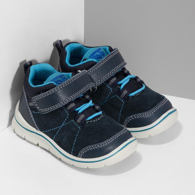 Dětské modré kožené tenisky bubblegummers, modrá, 113-9637 - 26