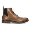 Hnědá kožená kotníčková Chelsea obuv flexible, hnědá, 896-3742 - 19