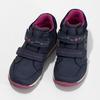 Modré dětské tenisky s růžovými detaily mini-b, modrá, 221-9618 - 16