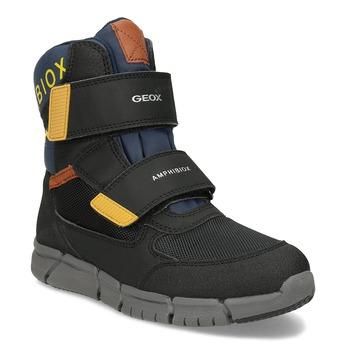 Dětská černá zimní obuv na suché zipy geox, černá, 399-6314 - 13